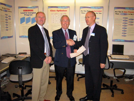 Pictured l-r, Trevor Gowan and Michael Alexander (joint MDs of Lisburn Glass), Malcolm Searle (MD of Clear Thinking)